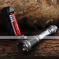Iluminação Lanternas LED Lanternas de Mão LED 2000 Lumens 5 Modo Cree XM-L T6 18650.0 AAA Foco AjustávelCampismo / Escursão /