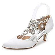 נשים-סנדלים-משי-שפיץ ושני חלקים נעלי מועדון-לבן ורוד בהיר כחול ים-חתונה שטח משרד ועבודה שמלה מסיבה וערב-עקב סטילטו