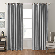 To paneler Window Treatment Moderne , Solid Soverom Polyester Materiale Blackout Gardiner Hjem Dekor For Vindu