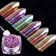 6box Unha Arte Decoração strass pérolas maquiagem Cosméticos Designs para Manicure