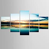 Giclee Print Maisema Moderni Välimeren,5 paneeli Kanvas Mikä tahansa muoto Tulosta Art Wall Decor For Kodinsisustus