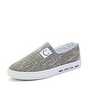 Kényelmes Mokaszin Könnyű talpak-Lapos-Férfi-Vitorlás cipők-Szabadidős Irodai Alkalmi Sportos-Szövet-Fekete Bézs Kék