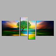 Pintados à mão Abstrato Animal Horizontal,Moderno 4 Painéis Tela Pintura a Óleo For Decoração para casa