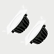 zdm 2pcs 7W dimmable 600-650lm ip65 carré blanc étanche lampe de gradation AC220V conduit
