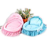 Cat Dog Bed Pet Mats & Pads Solid Soft Blue Blushing Pink