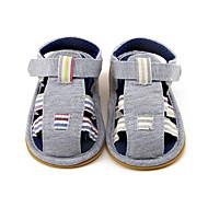 Enfants-Extérieure Décontracté-Gris foncé-Talon Plat-Premières Chaussures-Sandales-Tissu