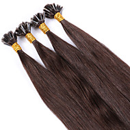 paras brasilialaiset kynsien u torjuen keratiini fuusio hiustenpidennykset 100% ihmisen neitsyt hiusten väri # 3 suora myynti