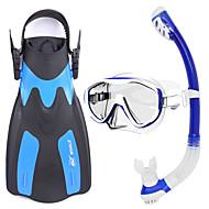 Snorkelsett Dykking og snorkling Gummi Glass Silikon Gul Blå Svart-WHALE