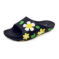 Damen-Slippers & Flip-Flops-Büro Kleid Lässig-maßgeschneiderte Werkstoffe Kunstleder-Flacher Absatz-Komfort Neuheit-Gelb Rot