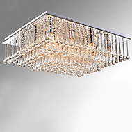 Modern Crystal Dome Ceiling Bedroom Living Room Lamp Square Crystal Water Suction Ceiling Lamp