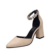 Femme-Bureau & Travail Décontracté--Gros Talon Block Heel-Confort-Chaussures à Talons-Polyuréthane