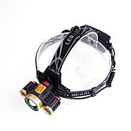 פנסי ראש הסוללה Case Lumens מצב Cree T6 18650 USB ניתן לטעינה מחדשמחנאות/צעידות/טיולי מערות שימוש יומיומי רכיבה על אופניים ציד רב שימושי