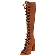 Women's Boots Summer Fall Comfort Novelty Gladiator Club Shoes Suede Outdoor Dress Casual Party & Evening Chunky Heel Block Heel Lace-up