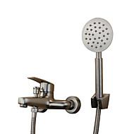現代風 アンティーク調 バスタブとシャワー ワイドspary with  セラミックバルブ シングルハンドル二つの穴 for  ステンレス , 浴槽用水栓