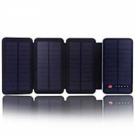 sunwalk 6W 10000mah Dual USB 2100mAh kimenet napelemes töltő teljesítmény bank külső akkumulátor mobiltelefon