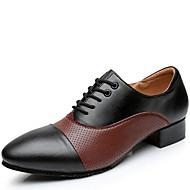 Na míru-Pánské-Taneční boty-Moderní-Kůže-Nízký podpatek-Černá Hnědá Bílá
