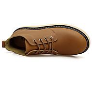 Men's Boots T-Strap Rubber Spring Casual Walking T-Strap Flat Heel Khaki Flat