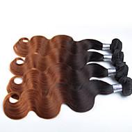 3 Pcs/Lot Ombre Hair Color 1B/30# Body Wave Wholesale Peruvian Hair, Raw Unprocessed Virgin Peruvian Hair