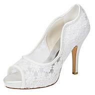 Femme-Mariage Habillé Soirée & Evénement-Ivoire-Talon Aiguille-club de Chaussures-Chaussures à Talons-Satin Elastique