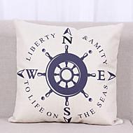 1 個 リネン 枕カバー,テクスチャード加工 航海 静物 グラフィック カジュアル トロピカル風 コンテンポラリー オフィス 屋外 ユーロ
