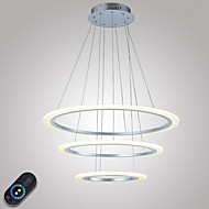 Modern Dimmable LED Acrylic Pendant Light Ceiling Chandeliers Lighting Fixtures with Remote Control 40W CE FCC ROHS