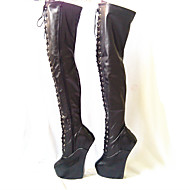 Women's Boots 20CM Heel Height Sexy Round Toe Hoof Heel Party Over The Knee Boots