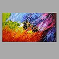 Ручная роспись Абстракция Натюрморт Горизонтальная,Modern Европейский стиль 1 панель Холст Hang-роспись маслом For Украшение дома