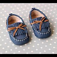 Barn Baby 一脚蹬鞋、懒人鞋 Første gåsko PU Vår Høst Avslappet Første gåsko Flat hæl Mørkeblå 2,5 - 4,5 cm