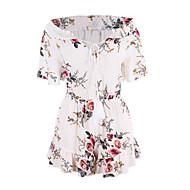 Damen Einfach Street Schick Hohe Hüfthöhe Ausgehen Lässig/Alltäglich Jumpsuit Lose Blumen Frühling Sommer