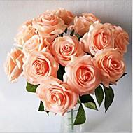 5 haara Silkki Ruusut Pöytäkukka Keinotekoinen Flowers