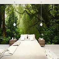 Bomen / Bladeren 3D Behang voor thuis Landelijk Behangen , Canvas Materiaal lijm nodig behang , Kamer wandbekleding