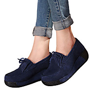 Damen-Loafers & Slip-Ons-Outddor Lässig-Wildleder-Keilabsatz-Komfort-