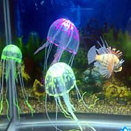 Akvarij Dekoracija Ukrasi Meduza Bez zvuka Netoksično i bezukusno Umjetno Prilagodljivo Silikon Random Color