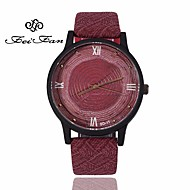 New Wood Men Women Watches Retro Casual FEIFAN Brand Vintage Leather Quartz Clock Female Fashion Simple Wooden Watches