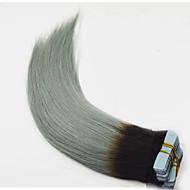 머리카락 연장 테이프 머리카락 머리카락 머리카락 스트레칭 회색 머리카락 스트레칭 회색 머리카락 흰색