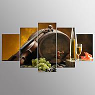 Afdrukken Op Opgespannen Doek Voedsel Modern,Vijf panelen Canvas Elke vorm Print Art Muurdecoratie For Huisdecoratie
