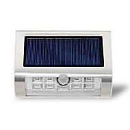 Solar 9led udendørs lampe væg lampe rustfrit stål krops sensor lys infrarød sensor lampe haven lys