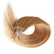 Μικρό βρόχο ανθρώπινα μαλλιά επεκτάσεις 18 ιντσών remy ευθεία στυλ 0.5g / s ανθρώπινη μαλλιά micro δαχτυλίδια επεκτάσεις 100s / συσκευασία