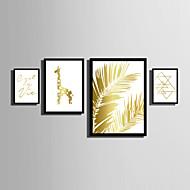 Krajobraz Kwiatowy/Roślinny Zvířecí motivy Słowa i cytaty Oprawione płótno Zestaw w oprawie Wall Art,PVC (polichlorek winylu) Materiał