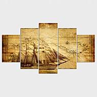 Kifeszített vászonnyomat Csendélet Modern,Öt elem Vászon Bármilyen alakú Print Art fali dekoráció For lakberendezési