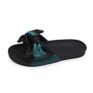 Damen Slippers & Flip-Flops Komfort PU Sommer Normal Walking Komfort Blume Flacher Absatz Weiß Grün 5 - 7 cm