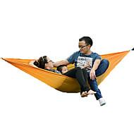 2 osobe Viseća mreža za ležanje Fold šator šator za kampiranje Platno Prijenosno Može se sklopiti-Plaža Kampiranje Outdoor-žuta