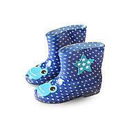 בנים מגפיים סוליות מוארות גומי אביב סתיו שטח הליכה מגפי גשם סקוטש עקב נמוך שחור כחול ורוד שטוח