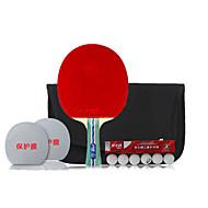 5 Sterne Ping Pang/Tischtennis-Schläger Ping Pang Holz Langer Griff Pickel