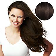 20db szalag hajhosszabbító # 2 sötétbarna mokkabarna 40g 16inch 20inch 100% emberi haj a nők