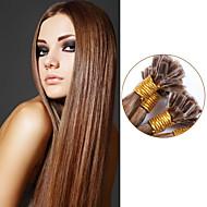 u / köröm tip haj kiterjesztések brazil egyenes haj 100% emberi haj kiterjesztések 100g pre-kötésű egyenes szűz hajszín # 10