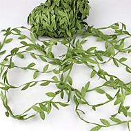 20meter silkki lehtiä-muotoinen keinotekoinen vihreät lehdet häät koristeluun DIY seppeleen lahja scrapbooking veneet tekokukista