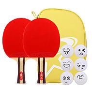 3スター Ping Pang/卓球ラケット Ping Pang ウッド ロングハンドル にきび