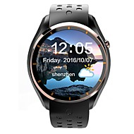 lemfoメンズ女性アンドロイドスマートウォッチiqi i3サポート3gの無線LANのGPSの心拍数モニタ1.39インチamoledディスプレイ512mbのRAM 4GBのROMの時計電話