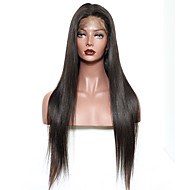 Premierwigs 180% Density Straight Human Hair Glueless Full Lace Wig 100% Soft Brazilian Human Virgin Hair With Pre-Plucked Baby Hair Around For Women